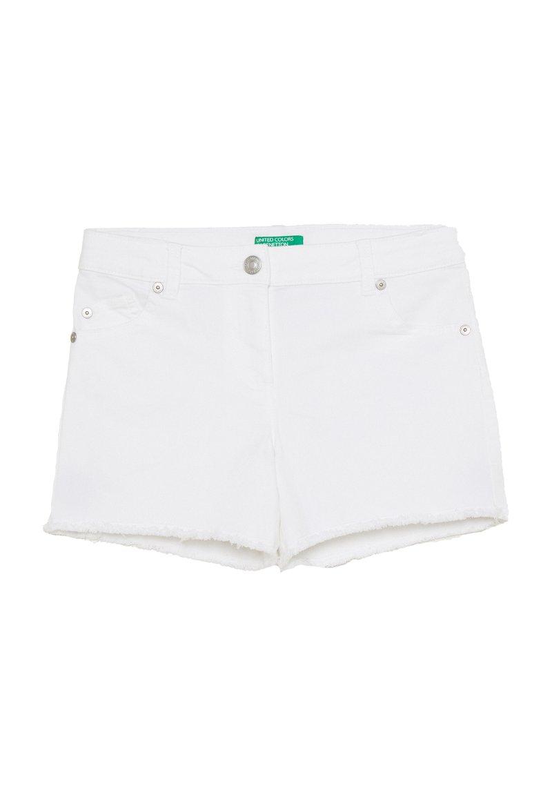 Benetton - Džínové kraťasy - white