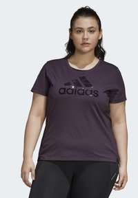 adidas Performance - GLAM ON BADGE OF SPORT LOGO T-SHIRT (PLUS SIZE) - Camiseta estampada - purple - 2