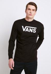 Vans - CLASSIC FIT - Bluzka z długim rękawem - black/white - 0