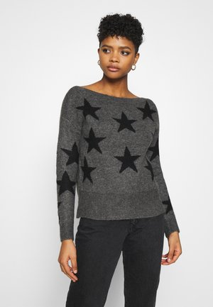 ONLNEW AURELIE  - Jumper - dark grey melange/black