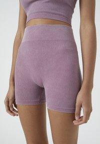 PULL&BEAR - Shorts - dark purple - 3
