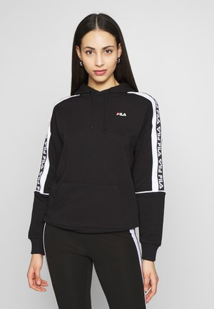TAVORA HOODY - Bluza z kapturem - black/bright white
