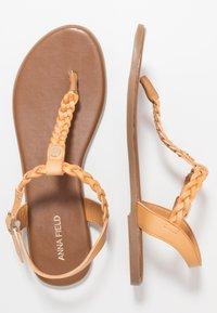 Anna Field Wide Fit - T-bar sandals - tan - 1
