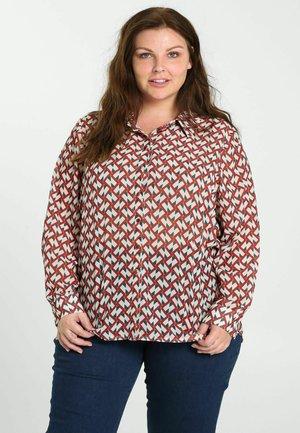 Button-down blouse - caramel