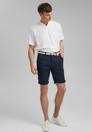 FASHION  - Shorts - mottled dark blue