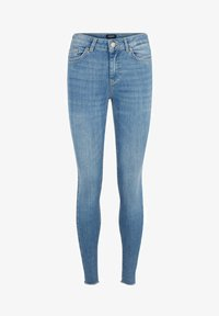 Pieces - SKINNY FIT JEANS CROPPED - Jeans Skinny Fit - light blue denim - 5
