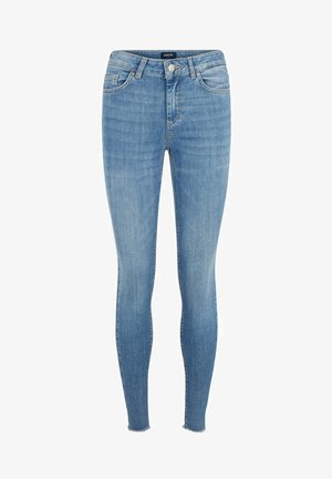 SKINNY FIT JEANS CROPPED - Jeans Skinny Fit - light blue denim