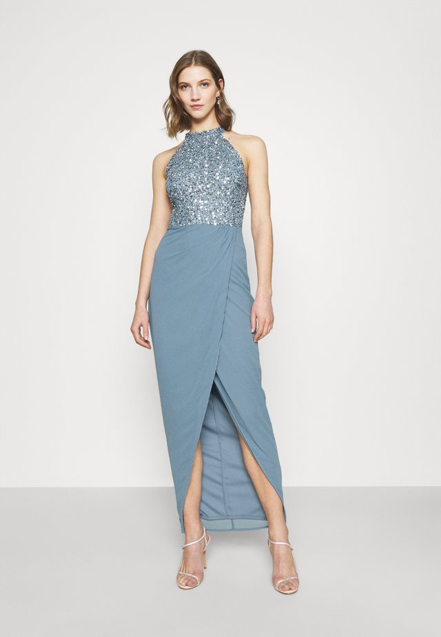 AVALON WRAP MAXI - Festklänning - dusty blue