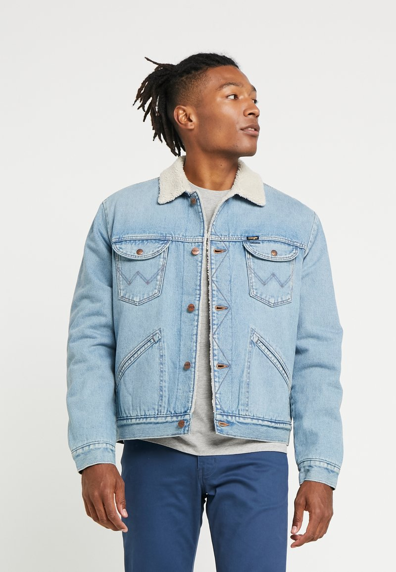Wrangler - SHERPA - Light jacket - bleached denim