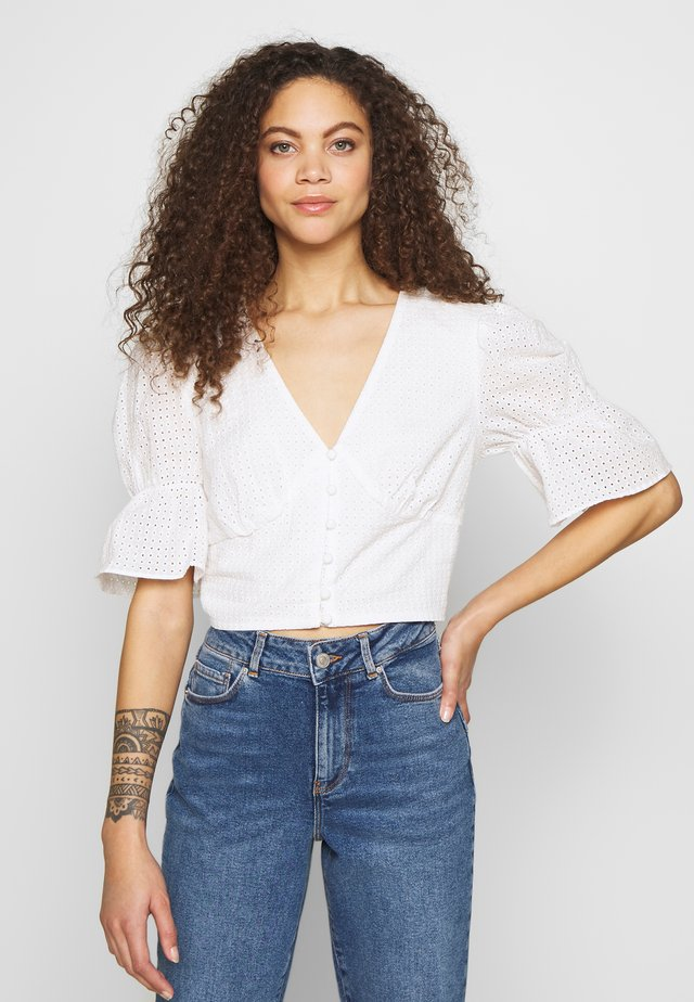 BRODERIE BLOUSE - Blouse - white