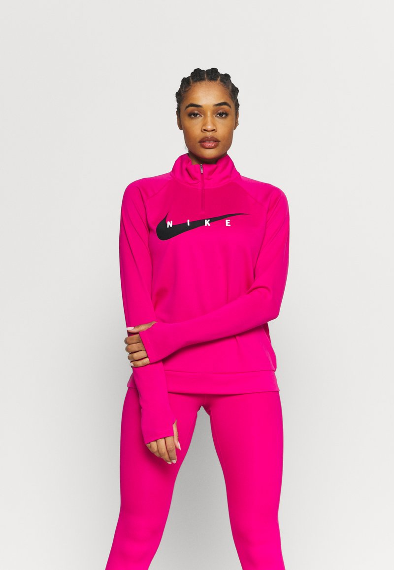 Nike Performance - RUN MIDLAYER - Treningsskjorter - fireberry/black