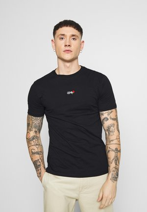 FLAME TEE - T-shirt con stampa - black