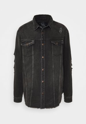 JACKIE JACKET - Denim jacket - black/grey