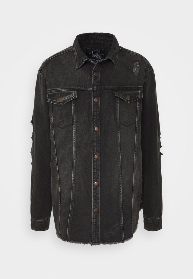 JACKIE JACKET - Farkkutakki - black/grey
