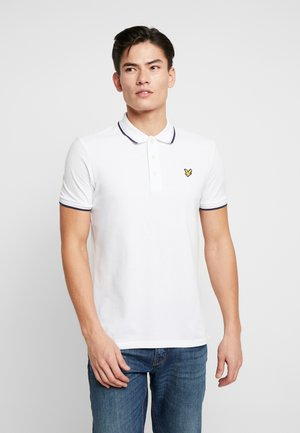 SEASONAL TIPPED POLO SHIRT - Polotričko - white/navy