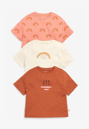 3 PACK RAINBOW - T-shirt print - brown