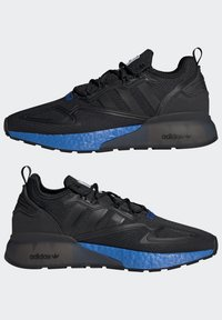 adidas Originals - ZX 2K BOOST UNISEX - Sneakers basse - core black/glow blue - 7