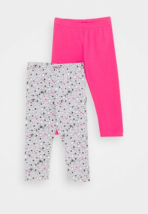 SMALL GIRLS TROUSERS KOALA 2 PACK - Legíny - grey/pink