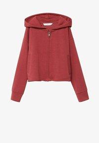 Mango - BELLY - Zip-up hoodie - kersenrood - 0