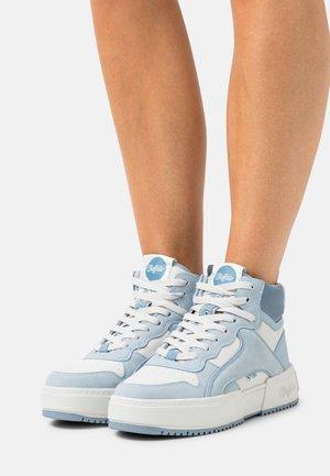 VEGAN - High-top trainers - pastel blue