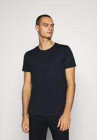 Burton Menswear London - SHORT SLEEVE CREW 7 PACK  - T-shirt basic - black/white/charcoal/navy/burgundy/dusty olive - 4