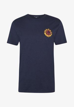 THROTTLE - Print T-shirt - dark blue