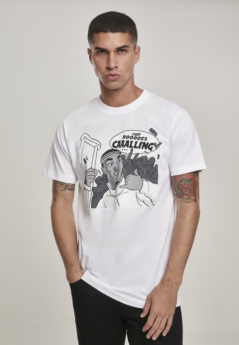 Mister Tee - CAAALLING - Print T-shirt - white