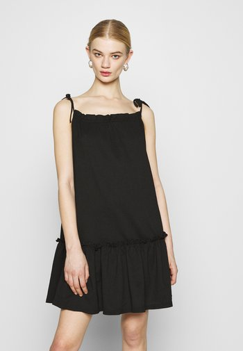 VMTESS SINGLET SHORT DRESS  - Day dress - black