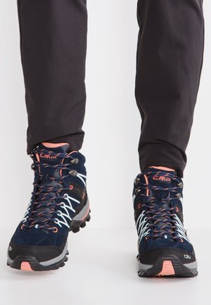RIGEL MID TREKKING SHOE WP - Outdoorschoenen - blue/giada/peach