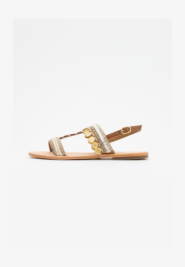 IBANE PIECE - Sandals - blanc/or