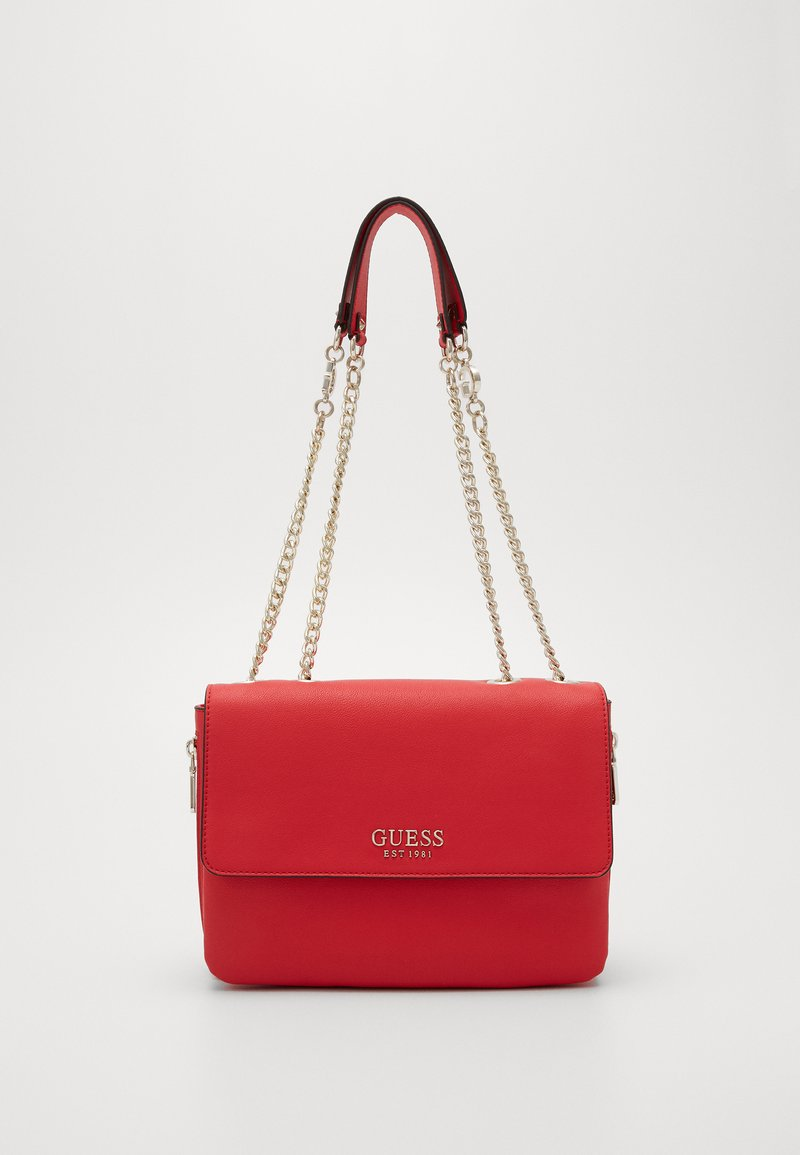 Guess - CHAIN CONVERTIBLE XBODY FLAP - Bandolera - red