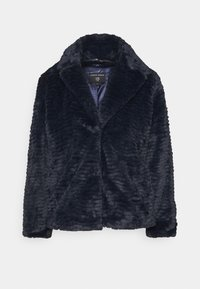 Dorothy Perkins - COLLAR AND REVERE TEXTURED COAT - Winter jacket - midnight - 3