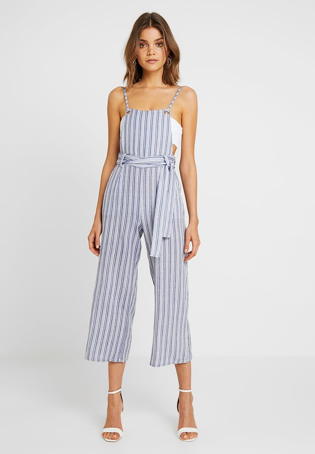 Dungarees - white/blue