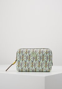 Tory Burch - PERRY PRINTED SMALL COSMETIC CASE - Toalettmappe - green - 0
