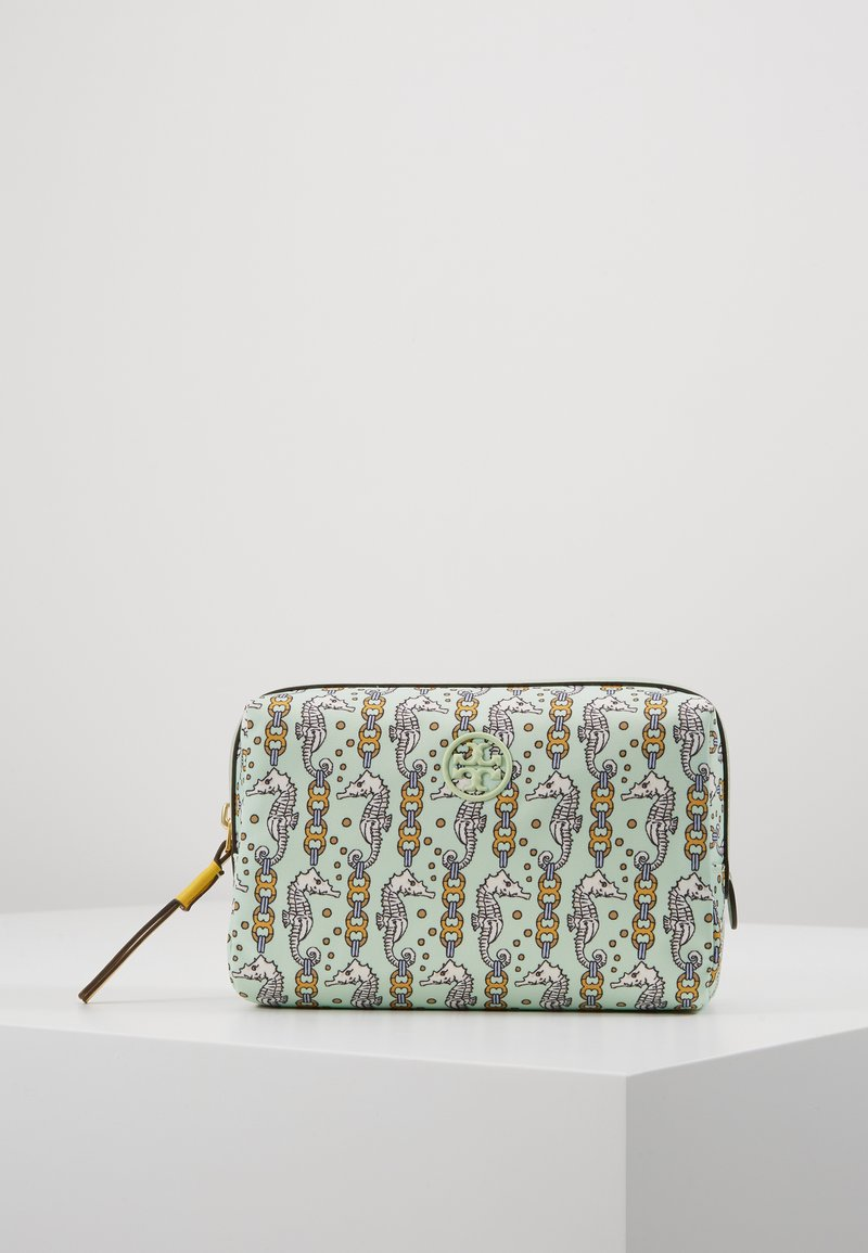 Tory Burch - PERRY PRINTED SMALL COSMETIC CASE - Toalettmappe - green