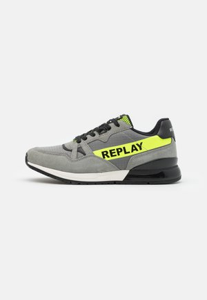 DAWROS - Trainers - grey/fluo yellow