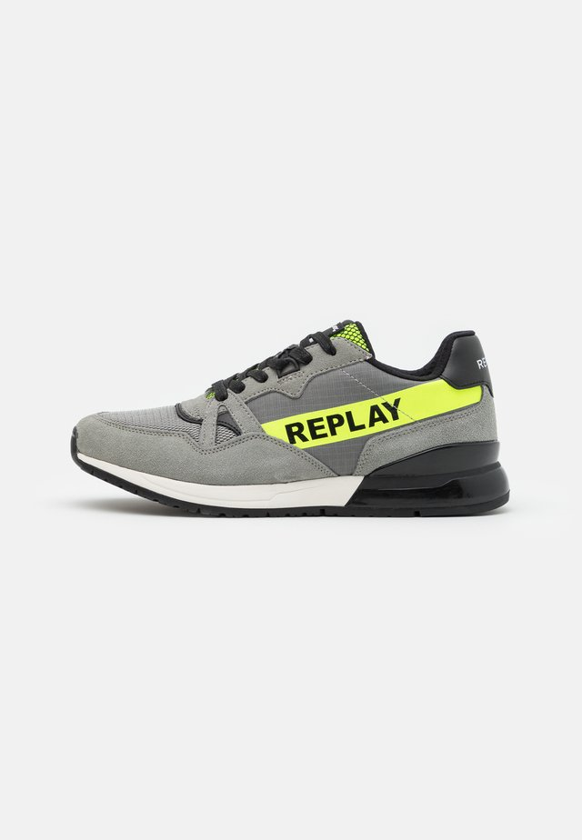 DAWROS - Sneakers laag - grey/fluo yellow
