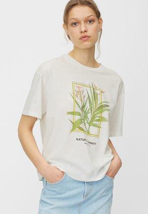 Print T-shirt - multi/white