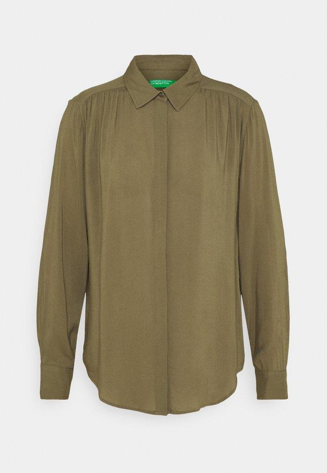 Overhemdblouse - khaki