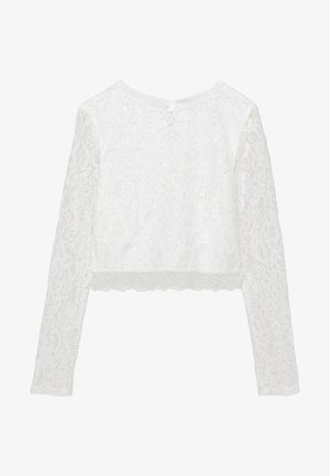 ZALANDO X NA-KD LONG SLEEVE LACE TOP - Bluser - off white