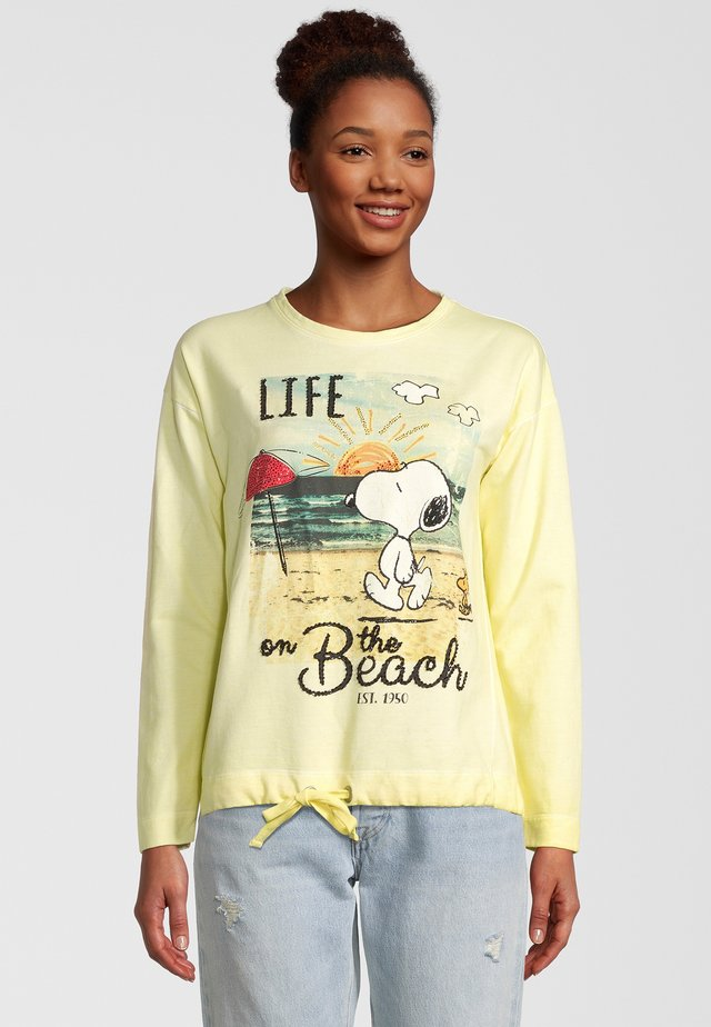 SNOOPY - Long sleeved top - yellow