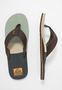 Reef - TRI WATERS - Sandály s odděleným palcem - grey/green - 1