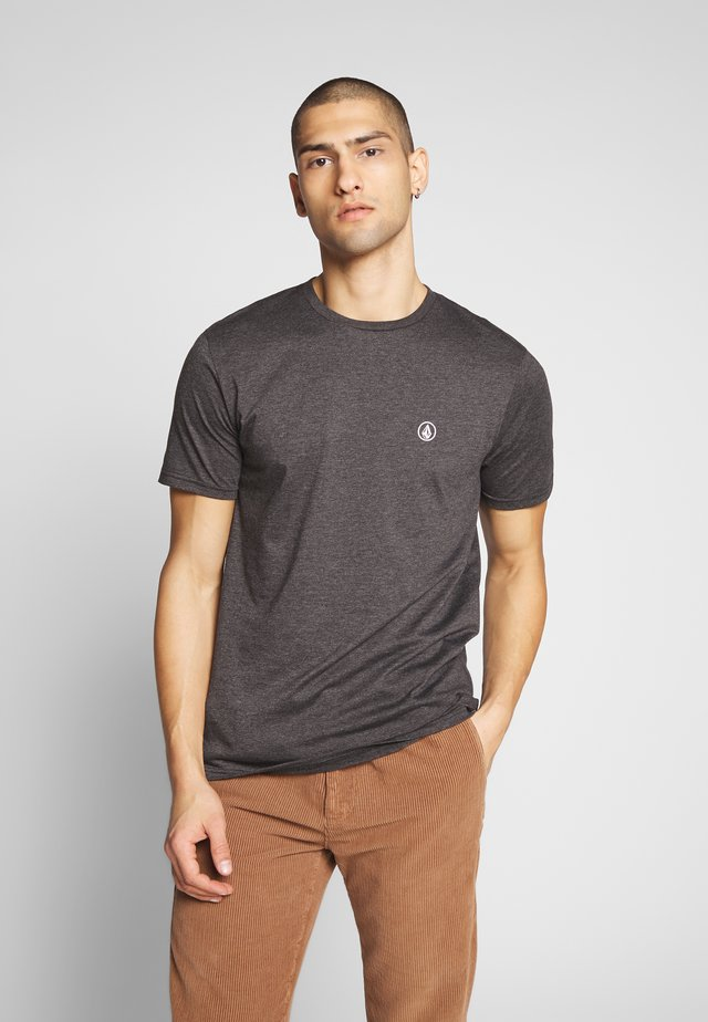 CIRCLE BLANKS HTH SS - T-shirt basique - anthracite