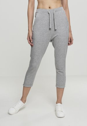 LADIES OPEN EDGE TERRY TURN UP PANTS - Tracksuit bottoms - grey