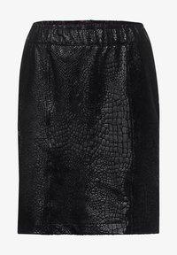 Street One - SCHLANGEN-OPTIK - Mini skirt - schwarz - 0