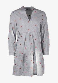 Zwillingsherz - Day dress - grau/weiß - 0