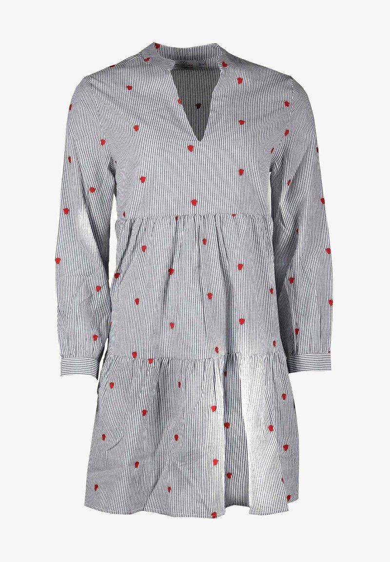 Zwillingsherz - Day dress - grau/weiß