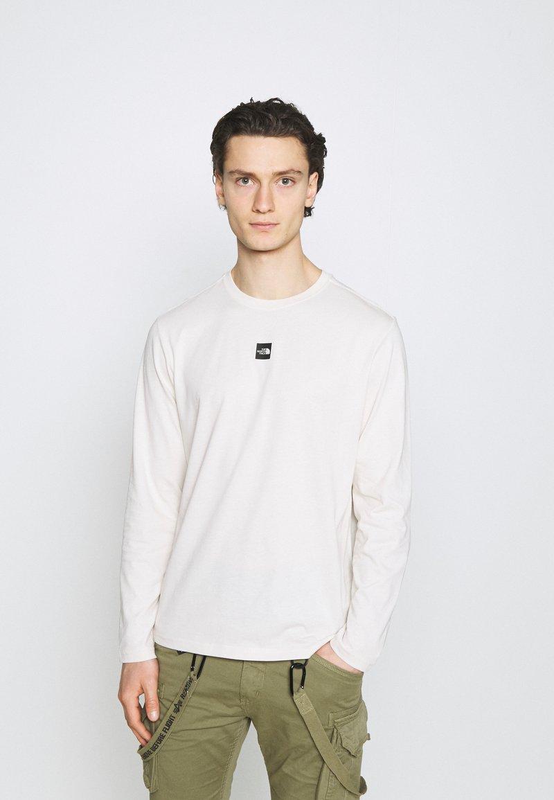 The North Face - CENTRAL LOGO - Top sdlouhým rukávem - vintage white