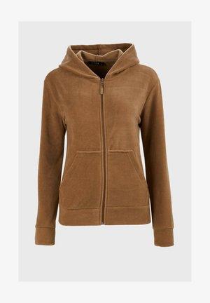 Zip-up sweatshirt - snuff colored