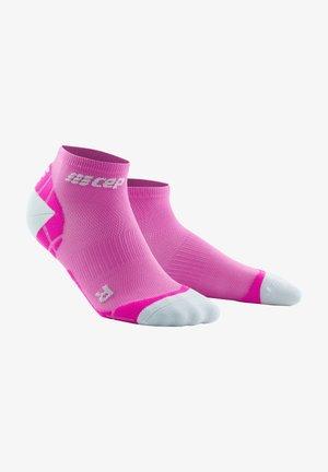 Trainer socks - electric pink light grey